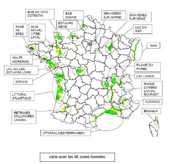 Korlátozott területek Franciaországban
