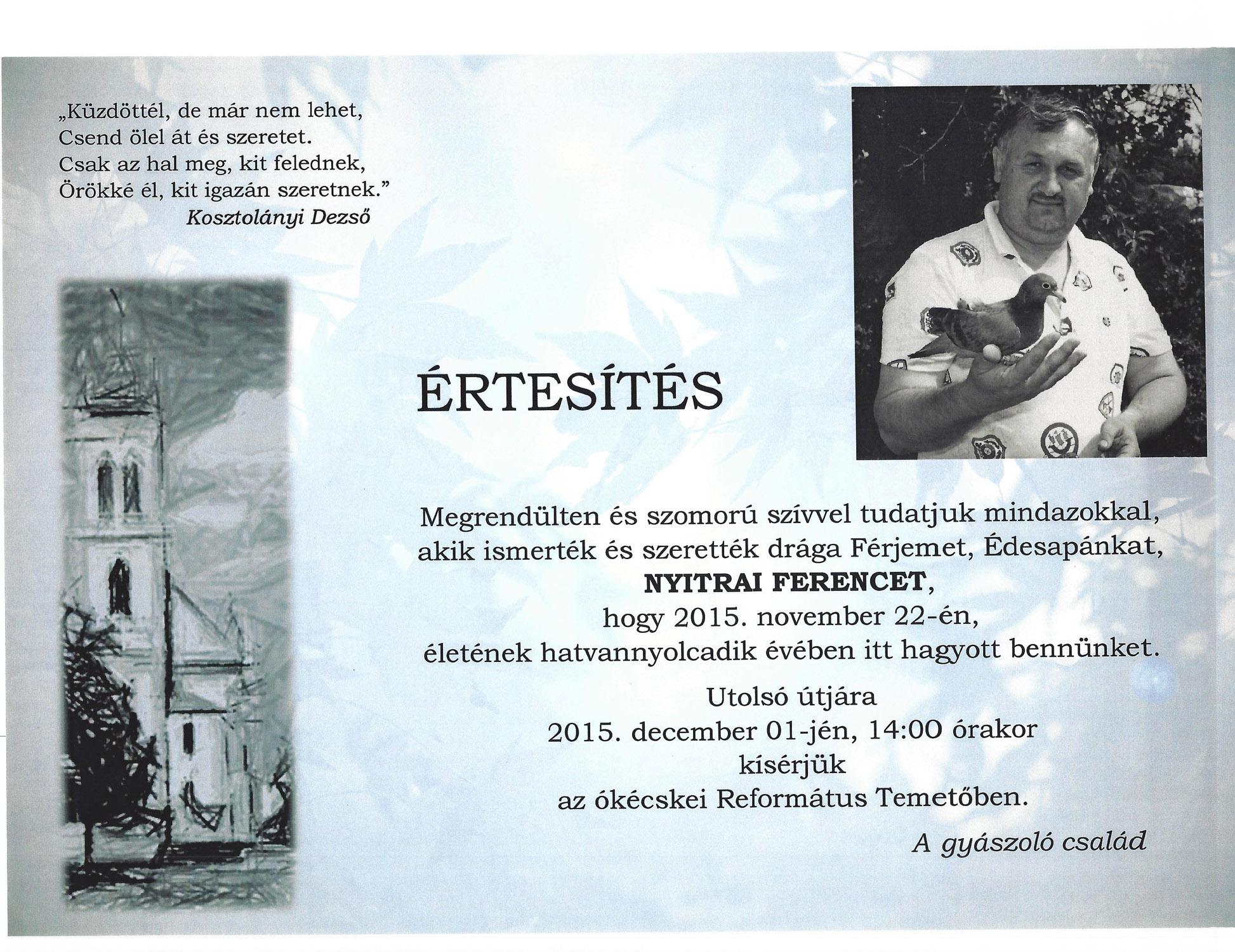 Nyitrai Ferenc